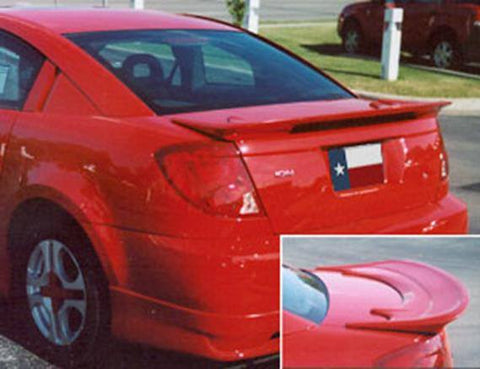 Rear Spoilers - Saturn Ion Quad Coupe Factory Flush No Light Spoiler (2003-2008)