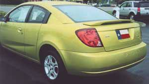 Saturn Ion Quad Coupe Factory Post No Light Spoiler (2003-2008) - DAR Spoilers