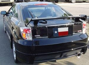 Rear Spoilers - Saturn Ion Quad Cpe Action Package Custom Post No Light Spoiler (2003-2008)