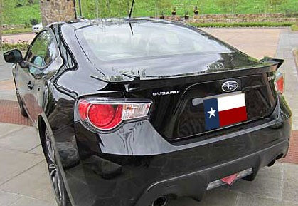 Subaru BR-Z (Gt-86 Style) Factory Flush No Light Spoiler (2013 and UP) - DAR Spoilers