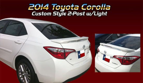 Rear Spoilers - Toyota Corolla Custom Post Lighted Spoiler (2014 And UP)