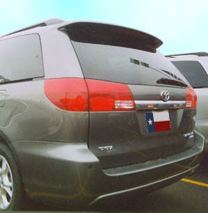 Rear Spoilers - Toyota Sienna Factory Roof Lighted Spoiler (2004-2010)