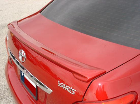 Rear Spoilers - Toyota Yaris 4-Dr Custom Lip No Light Spoiler (2007-2011)