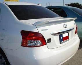 Rear Spoilers - Toyota Yaris 4-Dr Custom Post No Light Spoiler (2007-2011)