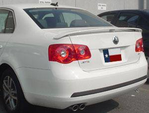 Rear Spoilers - Volkswagen Jetta Factory 3Post No Light Spoiler (2005.5-2010)
