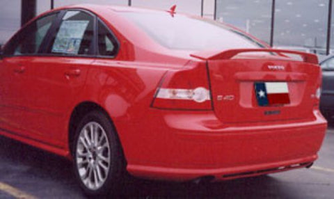 Rear Spoilers - Volvo S40 Factory Post No Light Spoiler (2004.5-2011)