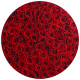 The Million Large Luxury Box - Red Eternity Roses - White Box - The Million Roses Europe