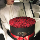 The Million Large Luxury Box - Red  XL Size Eternity Roses - Black Box