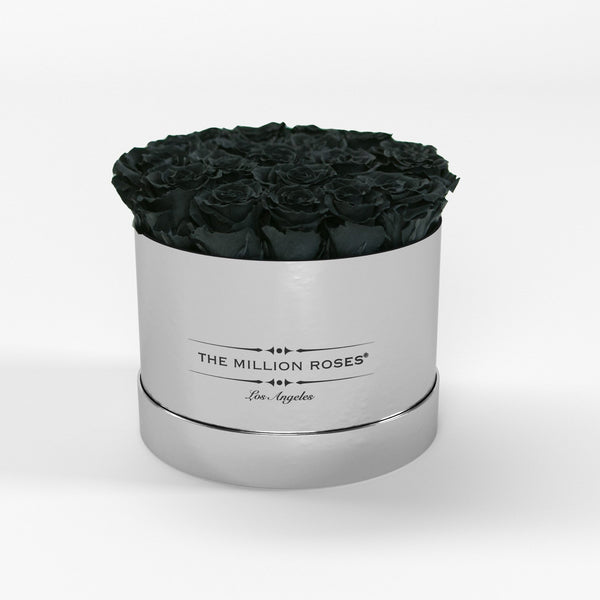 Classic - Black Eternity Roses - Mirror Silver Box - The Million Roses Europe