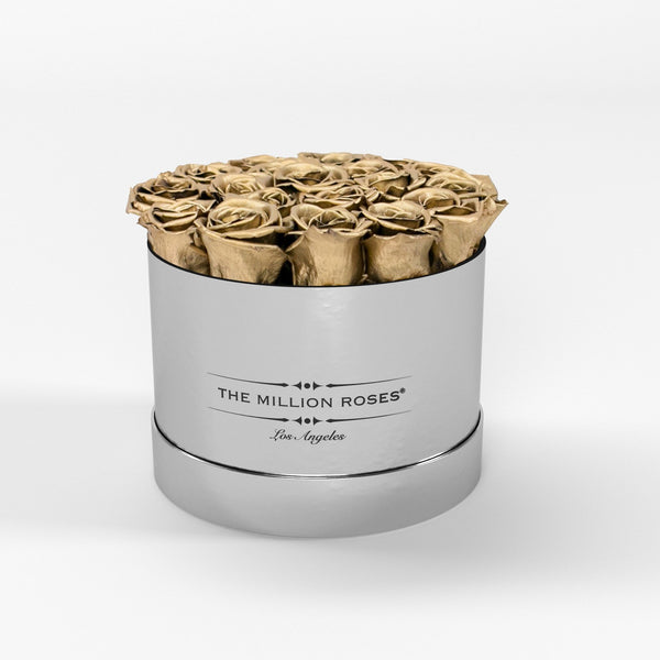 Classic - Gold Eternity Roses - Mirror Silver Box - The Million Roses Europe