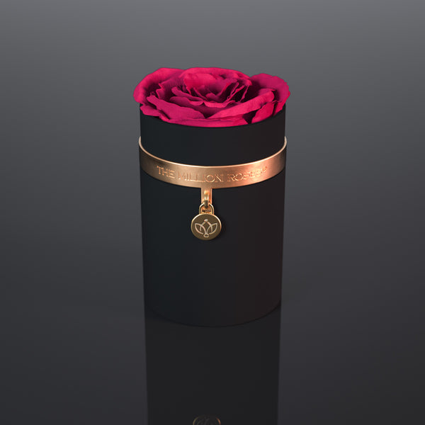 one in a million™ - black box / gold ring / gold metal charm - The Million Roses Europe