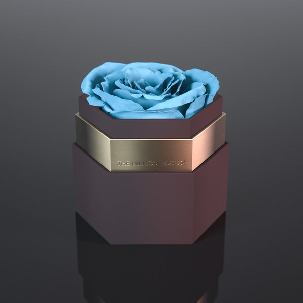 one in a million™ - hexagon coffee box / gold ring - The Million Roses Europe