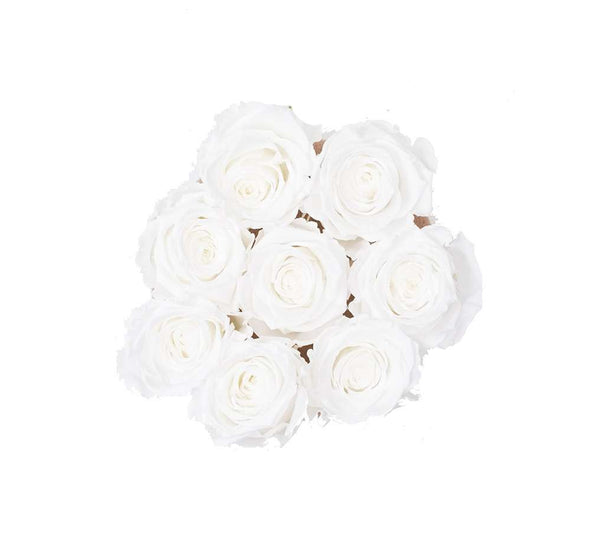 The Million Basic - White Eternity Roses - Shiny Gold Box - The Million Roses Europe