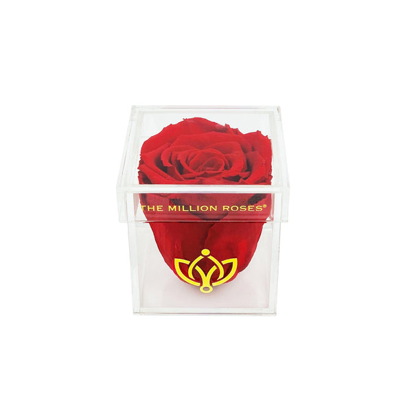 The Acrylic - Single Rose Box - Royal Blue Rose - The Million Roses Europe