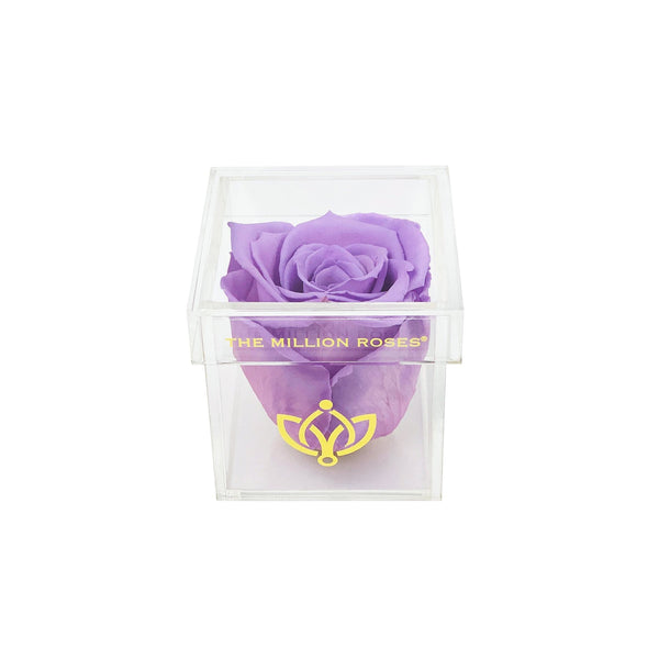 The Acrylic - Single Rose Box - Lavender Rose - The Million Roses Europe