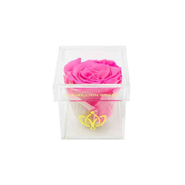 The Acrylic - Single Rose Box - Candy Pink Rose - The Million Roses Europe