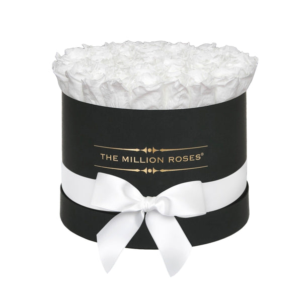 Premium - White Eternity Roses - Black Box - The Million Roses Europe