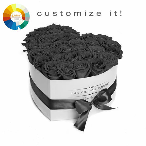 The Million Love Heart - Custom Personalised Box - The Million Roses Europe
