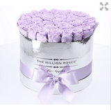 Premium - Lavender Eternity Roses - Mirror Silver Box - The Million Roses Europe