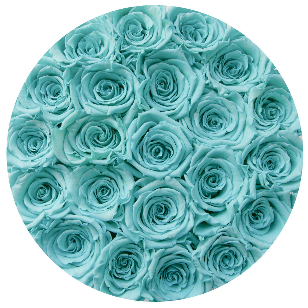 The Million Roses Europe - Small - Tiffany Blue Roses - Black Box Delivered Anywhere in Europe