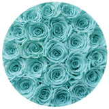 The Million Roses Europe - Small - Tiffany Blue Roses - Silver Box Delivered Anywhere in Europe