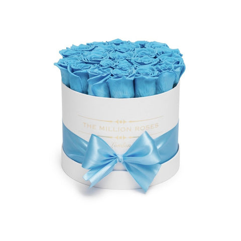 Classic - Light Blue Eternity Roses - White Box - The Million Roses Europe