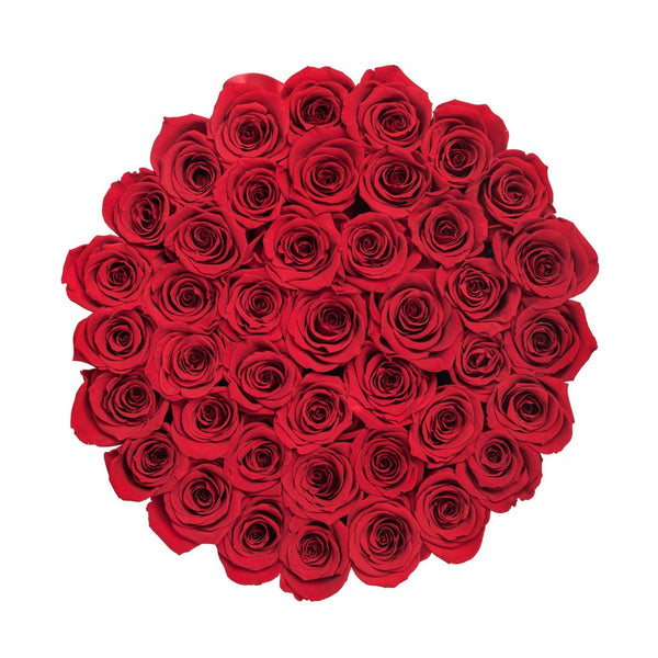 Premium - Red Eternity Roses - White Box - The Million Roses Europe