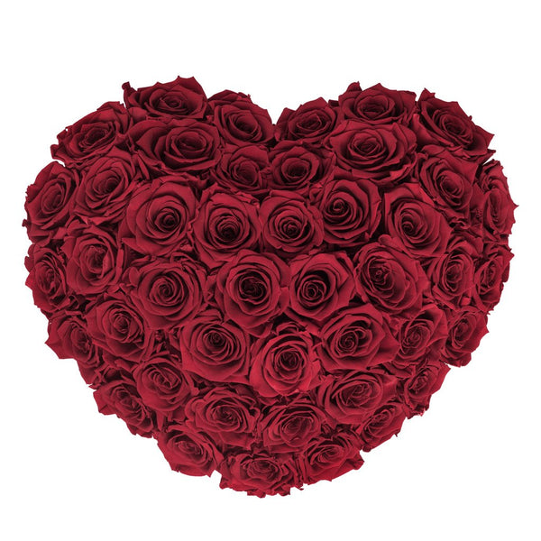 The Million Love Heart Sphere - Red Eternity Roses - Black Box