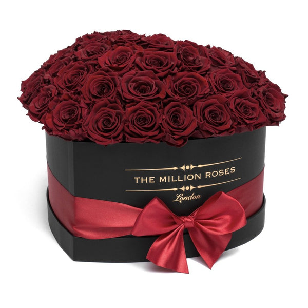 The Million Love Heart Sphere - Red Eternity Roses - Black Box - The Million Roses Europe