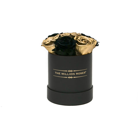 The Million Basic - Black & Gold Eternity Roses - Black Box - The Million Roses Europe