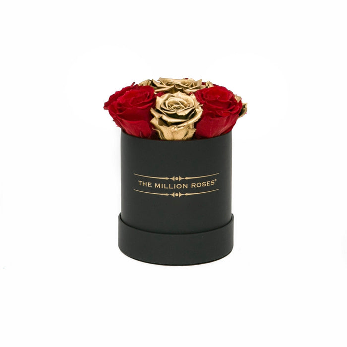 The Million Basic - Red & Gold Eternity Roses - Black Box