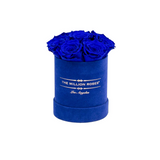 The Million Basic - Royal Blue Suede Box - Blue Eternity Roses - The Million Roses Europe