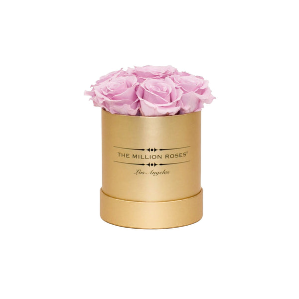 The Million Basic - Pink Eternity Roses - Matte Gold Box - The Million Roses Europe