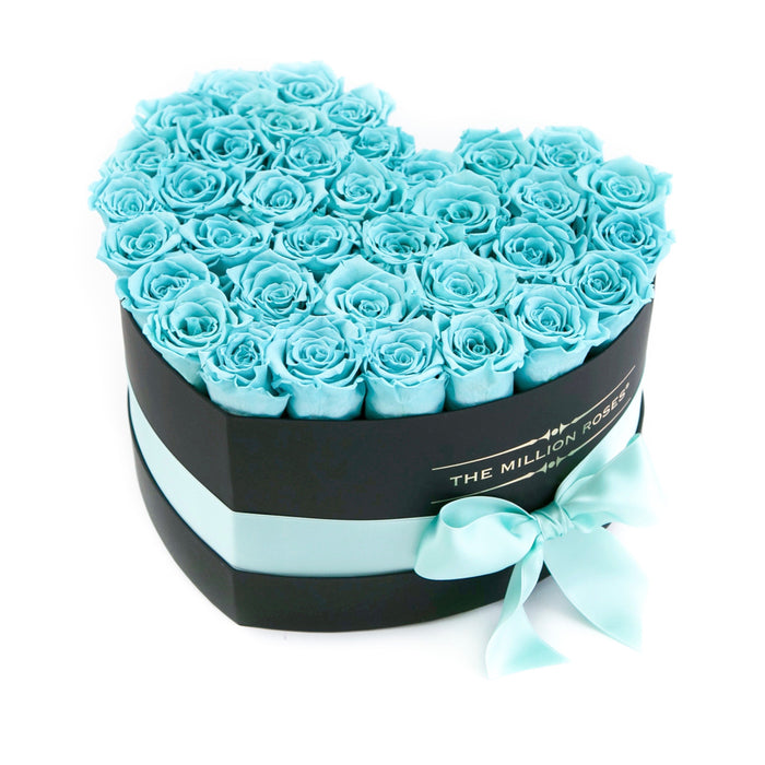 Heart - Tiffany Blue Roses - Black Box - The Million Roses Europe - Italia, France, Österreich, Deutschland, Espana