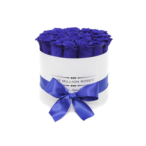 Classic - Blue Eternity Roses - White Box - The Million Roses Europe