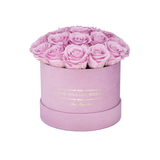 Classic - Light Pink Suede Box - Light Pink Eternity Roses (Dome) - The Million Roses Europe