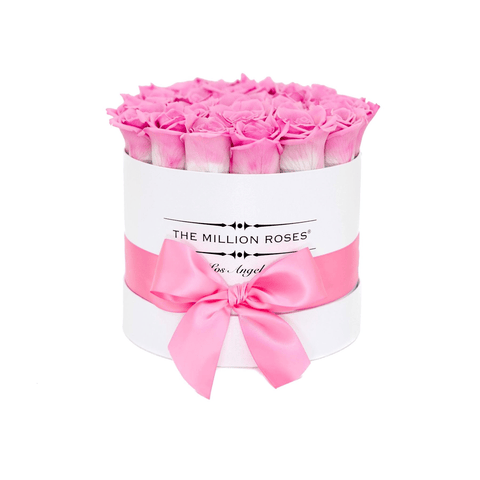 Classic - Candy Pink Eternity Roses - White Box - The Million Roses Europe