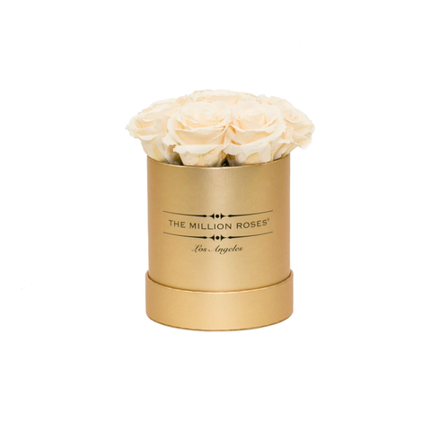 The Million Basic - White Eternity Roses - Gold Box - The Million Roses Europe
