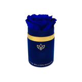 Single Rose Box - Blue Suede - The Million Roses Europe