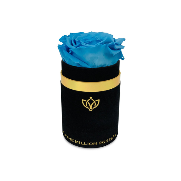 Single Rose Box - Black Suede - The Million Roses Europe