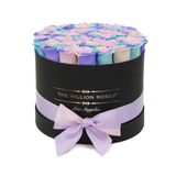 Premium - Pastel Rainbow Eternity Roses - Black Box - The Million Roses Europe