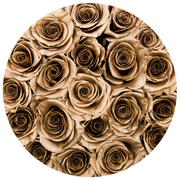 Classic - Light Pink Suede Box - Gold Eternity Roses - The Million Roses Europe