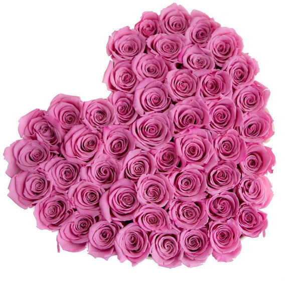 The Million Roses Europe - The Million Love Heart - Candy Pink Eternity Roses - Vanilla Box Delivered Anywhere in Europe