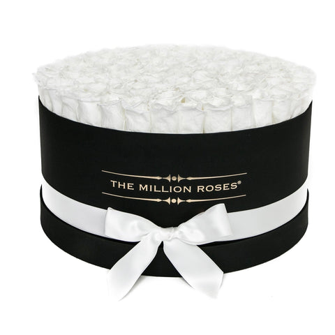 The Million Deluxe Box - White Eternity Roses - Black Box - The Million Roses Europe