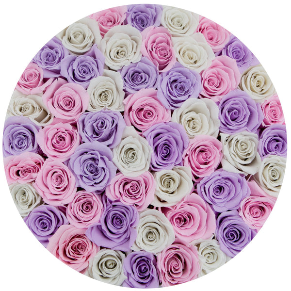 The Million Roses Europe - Medium - Princess Eternity Rose Selection - White Box Delivered Anywhere in Europe