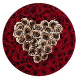 The Million Roses Europe - The Million Large Luxury Box - Red Eternity Roses & Golden Heart Delivered Anywhere in Europe