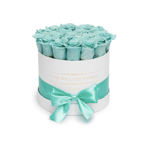 Classic - Tiffany Blue Eternity Roses - White Box - The Million Roses Europe