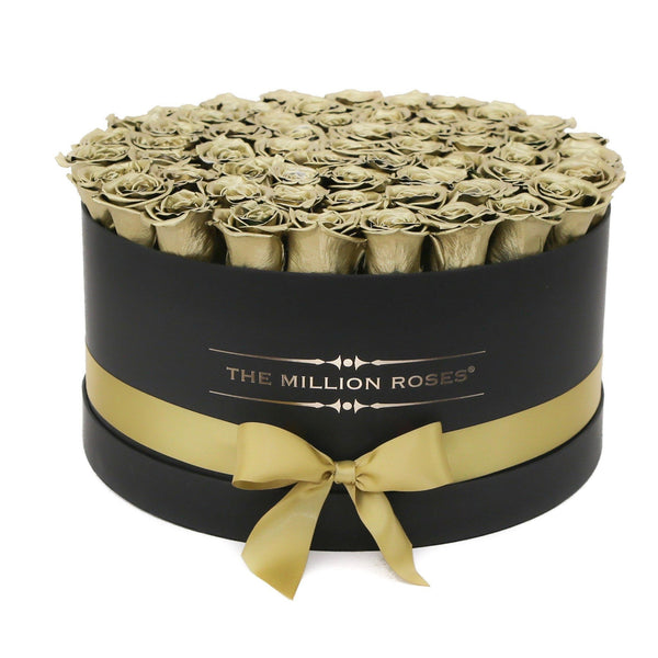 The Million Deluxe Box - Gold Roses - Black Box - The Million Roses Europe