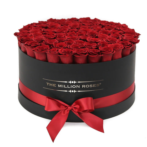 The Million Deluxe Box - Red  XL Size Eternity Roses - Black Box - The Million Roses Europe