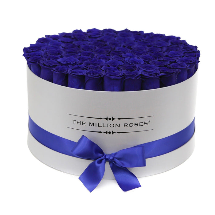 The Million Large Luxury Box - Blue Eternity Roses - White Box - The Million Roses Europe - Italia, France, Österreich, Deutschland, Espana